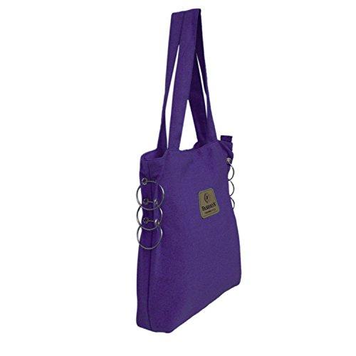 Einfarbige Handwebstuhl Baumwolle Multipurpose Schulter Fashion Tasche