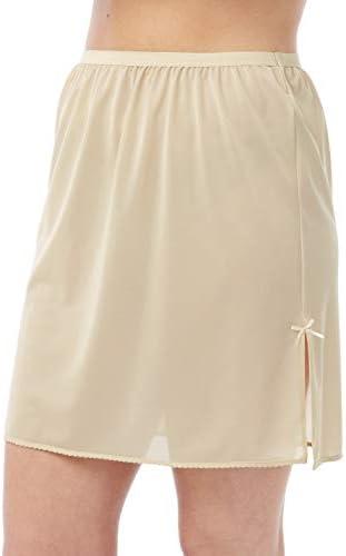 16 White Half Slip 31 Cling Resist Waist Slip//Underskirt with Guipure Motif by BHS
