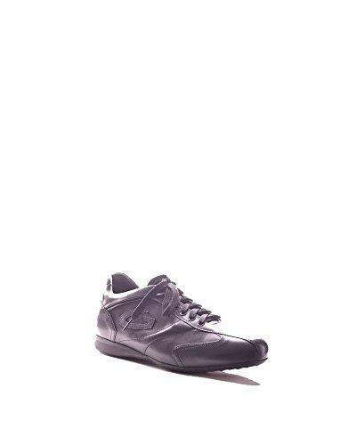 Alberto Guardiani Mannen Mcbi072001o Zwart Lederen Sneakers