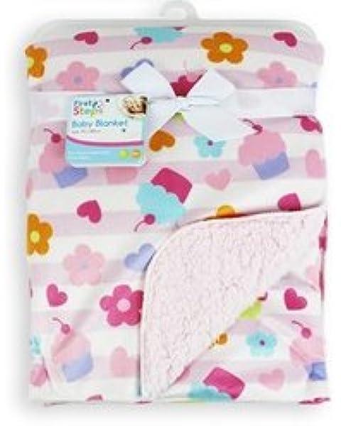 approx Pink//Cupcake 29 x 49 inches Baby Cupcake//Giraffe Design Boy//Girl Soft Pram Blanket