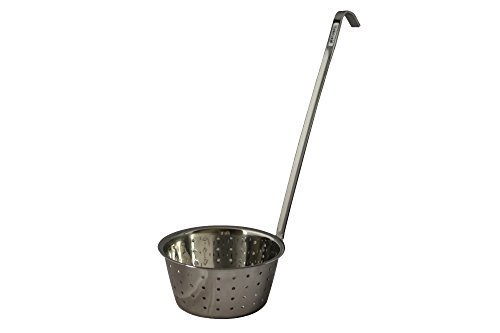 One Quart 32 Oz Stainless Steel Perforated Food Ladle/Dipper