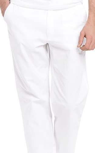 White by Nature Men's Relaxed Casual Cotton Beach Pants