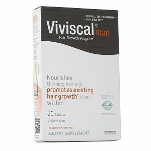 Viviscal Hair Dietary Supplements Man, Grey White, 60 Tablets