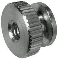 Round Thumb Nut, Aluminum, 6-32