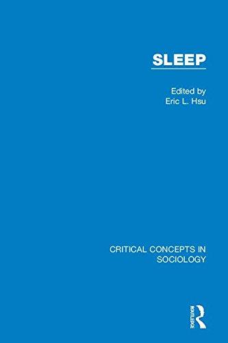 Sleep (Critical Concepts in Sociology)