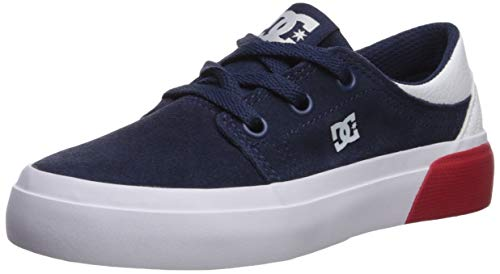 DC Boys' Trase Skate Shoe, Navy/White, 11.5M M US Little Kid