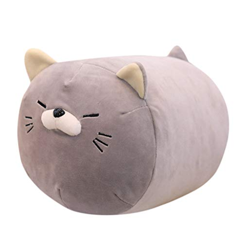 Vovomay Plush Toy-Anime Kitten Inu Plush Stuffed Soft Pillow Doll Cartoon Cute Kitten Soft Toy (Gray)