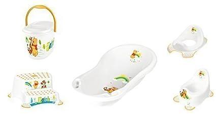 Disney Winnie Pooh blanco Serie de 5 Z Set Bañera + Ir al baño + WC
