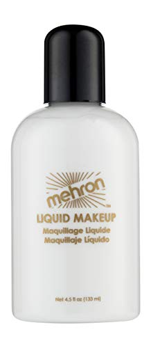 Mehron Makeup Liquid Face and Body Paint (4.5 oz) (WHITE) -