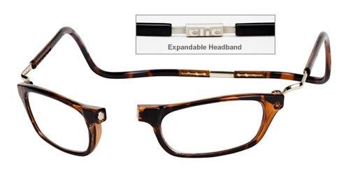 Clic Reader XXL Single Vision Half Frame Designer Reading Glasses, Dark Tortoise, +2.00