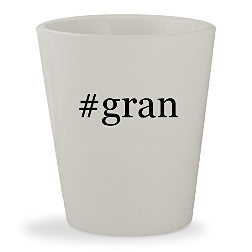 Price comparison product image #gran - White Hashtag Ceramic 1.5oz Shot Glass