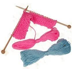 Knitting Patterns For Beginners Toys : Amazon.com: Knitting for Kids - Beginners Knitting Kit: Toys & Games