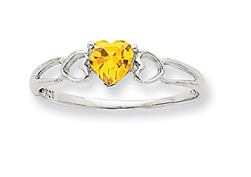 Genuine November Birthstone Heart Ring - 1