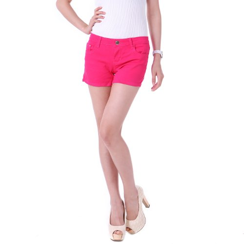 HDE-Womens-Solid-Color-Ultra-Stretch-Fitted-Low-Rise-Moleton-Denim-Booty-Shorts