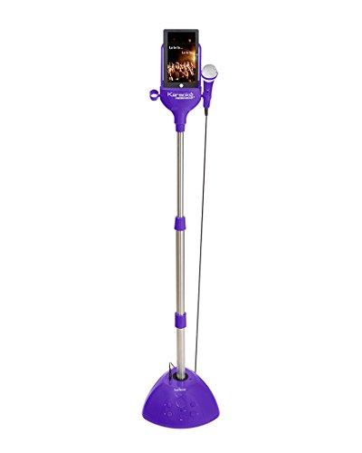 Lexibook Karaoke Micro Star,3 in 1 karaoke, microphone, audio/video player docking station for any iPod or audio devices, speaker, violet - (Top Load Cdg Karaoke Machine)
