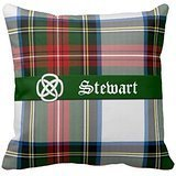 w Case Stewart Dress Tartan Plaid Pillow Cover Decorative Canvas Accent Pillows for Sofa and Couch (Stewart Plaid Cover)