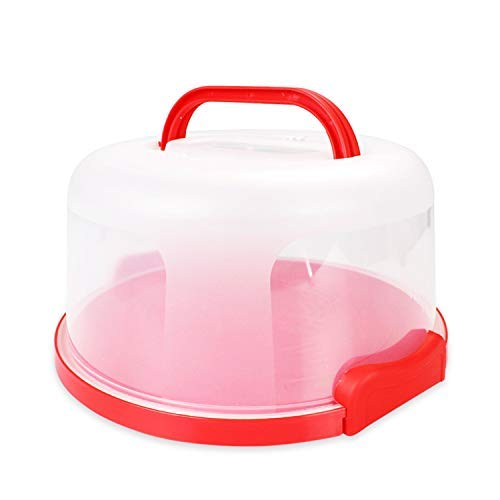 Bundt Cake Carrier - Cake Carrier Holder Cover by Sweet Course Official Large Round Container with Collapsible Handles