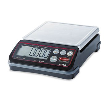DYMO 1812591 Pelouze Digital Portioning Scale, 12 lb Capacity, 6 2/5'' x 5 4/5'', Platform