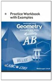 Amazon geometry concepts and skills worked out solution key geometry concepts and skills practice workbook with examples fandeluxe Choice Image