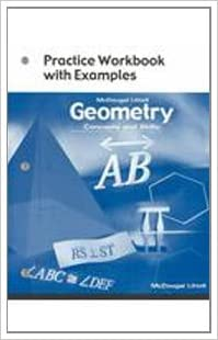 Amazon geometry concepts and skills practice workbook with flip to back flip to front fandeluxe Image collections