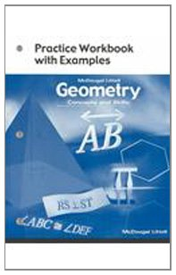 Geometry: Concepts and Skills: Practice Workbook with Examples