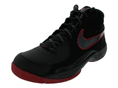 Nike Men's NIKE THE OVERPLAY VII NBK BASKETBALL SHOES 11.5 Men US (BLACK/ANTHRACITE/GYM RED)