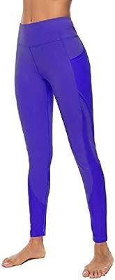 YANGPANGZI Pantalones de Yoga con Bolsillos Leggings ...