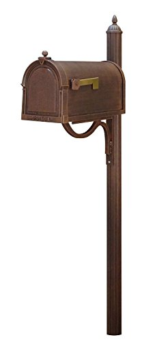 Special Lite Berkshire Curbside Mailbox with Richland Mailbox Post - Copper by Special Lite Products Company, Inc.