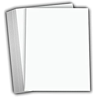 """Hamilco White Cardstock Thick Paper - 8 x 10"""" Blank Heavy Weight 100 lb Cover Card Stock - 50 Pack"""