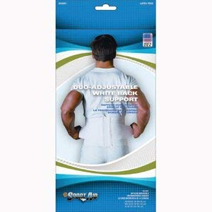Sport Aid Duo-Adjustable White Back Support XL - - Elastic Specialties 9 Scott