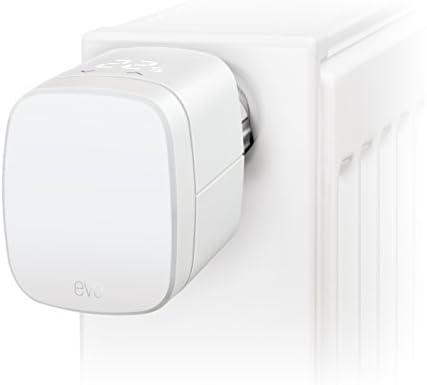 Eve Thermo (Vorgängermodell) - Smartes Heizkörperthermostat mit LED-Display, automatische Temperatursteuerung, integriertes Touch-Bedienfeld, Bluetooth (Apple HomeKit)