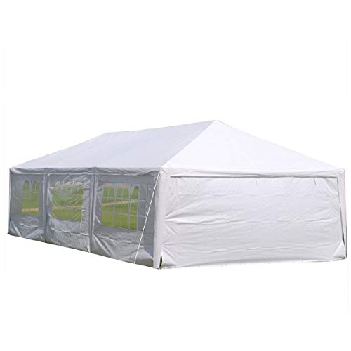 (DELTA Canopies 15'x30' Wedding Party Tent Gazebo Canopy Shelter White)