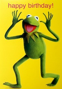 Kermit the frog muppets happy birthday greetings card mu8 amazon kermit the frog muppets happy birthday greetings card mu8 m4hsunfo