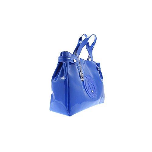 Blu Blu Armani Jeans Jeans Donna Handbag Large Patent Patent Large Armani Armani Large Handbag Jeans Donna 0Z4Wwq0B