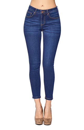 Blue Age Women's Ankle Skinny Jeans Stretch Denim (JP1102A_MED_1)