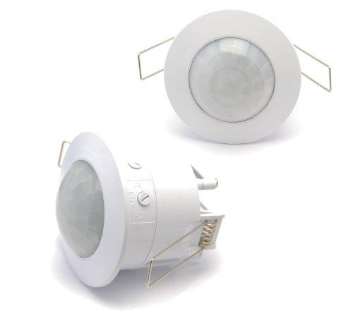 Infrarot UP Decken-Einbau Bewegungsmelder 360° (3-Draht Technik, LED ...