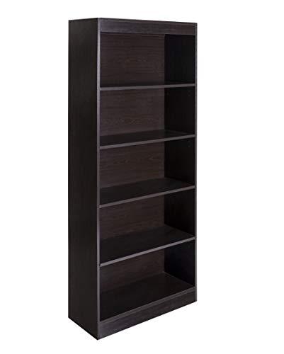 OneSpace 50-LD01ESSHLF Essentials 5-Tier Book Shelf Bookshelf, Espresso (Bookshelf Small Espresso)