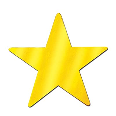 Beistle 55837-GD 72-Piece Foil Star Cutouts, 5-Inch: Kitchen & Dining