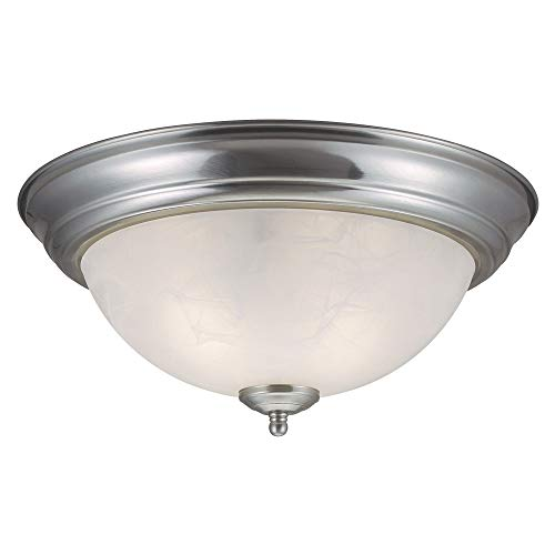 Design House 511550 Millbridge 2 Light Ceiling Light, Satin Nickel