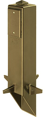 Arlington Industries GP19BR-1 Gard-N-Post Outdoor Landscape Lighting Garden Post, 19-Inch, Bronze