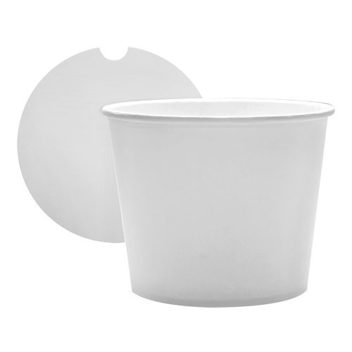45 Count White Food Containers 85oz Large Food Buckets with Lids