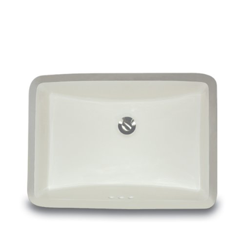 Nantucket Sinks UM-18x12-B 18-Inch  by 12-Inch  Rectangle Ceramic Undermount Vanity, Bisque by Nantucket Sinks