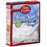 Betty Crocker Homestyle Fluffy White Frosting Mix, 7.2 Ounce (Pack of (Fluffy White Frosting)