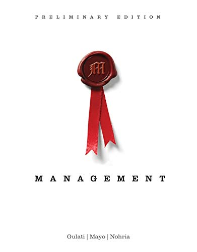 Management, Preliminary Edition (New 1st Editions in Management)