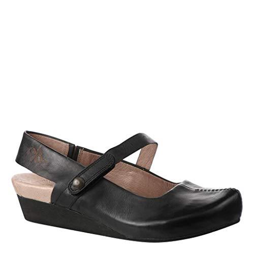 OTBT Women's Springfield Closed Toe Wedges - Black Leather - 7.5 M US