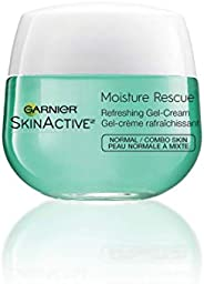 Garnier Moisture Rescue Face Moisturizer Gel Cream, 24 Hour Hydrating Skin Care with Vitamin E & Antioxida