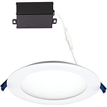 GetInLight Slim Dimmable 6 Inch LED Recessed Lighting Round Ceiling Panel Junction Box Included  sc 1 st  Amazon.com & JULLISON LED 4 Packs Recessed Low Profile Slim Panel Light with ... Aboutintivar.Com