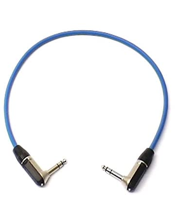 0 5m patch lead, right angled stereo trs 1/4