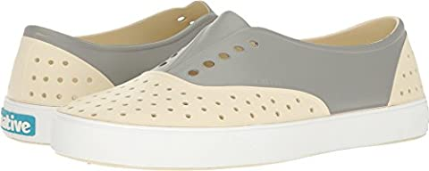 Native Shoes Unisex Miller Bone White/Shell White/Pigeon Block Loafer (Size 8 Native Shoes)