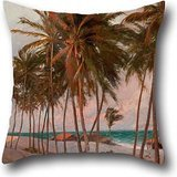 Oil Painting Aurélio Figueiredo - Beach In Fortaleza Throw Pillow Case 20 X 20 Inch / 50 By 50 Cm Best Choice For Christmas,husband,son,car Seat,christmas,wife With Each (Custom Costumes In Edmonton)
